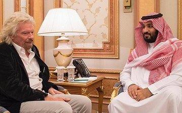 Саудиты намерены вложить 1 млрд долларов в космические компании Р. Брэнсона