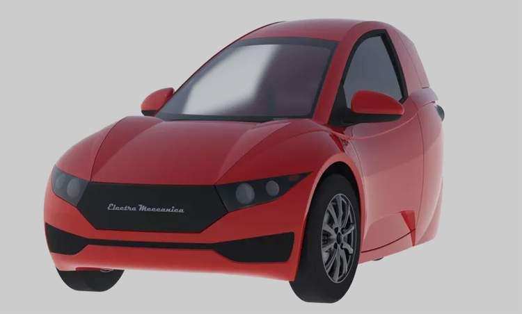 В Канаде выпущен первый трехколесный электромобиль