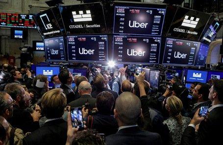 В первый день торгов стоимость акций Uber снизилась на 8%