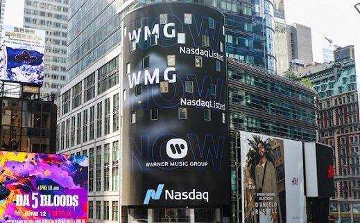 Warner Music привлекла по итогам IPO 1,9 млрд USD