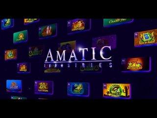 Логотип и игры Amatic Industries.
