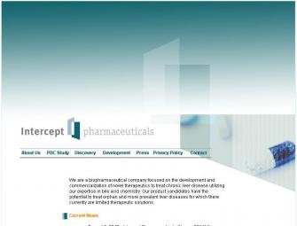 Intercept Pharmaceuticals Inc. размещает USD 75 млн на IPO